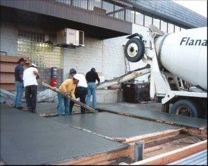 Allanado del concreto fresco