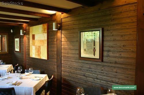 Aplicaciones de la madera de pino - Como decorar una pared con madera ...