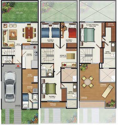 Planos De Casas 2 Pisos