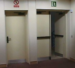 Puertas para evacuación