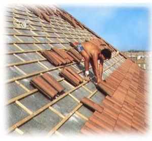 Reparación de tejas de madera