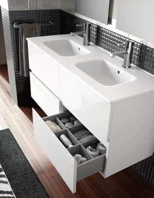 Lavabos modernos - Mueble bano dos senos 150 ...