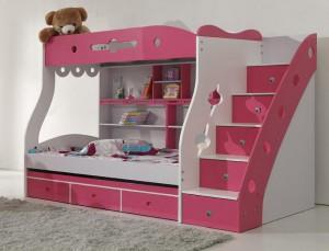librero para niñas y camas individuales