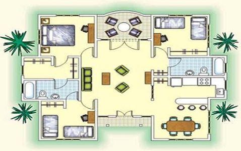 Planos de casas 1 planta for Casa de una sola planta planos