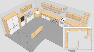Dise ar una cocina for Disenar muebles de cocina online