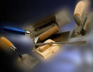 Herramientas y materiales para el yeso