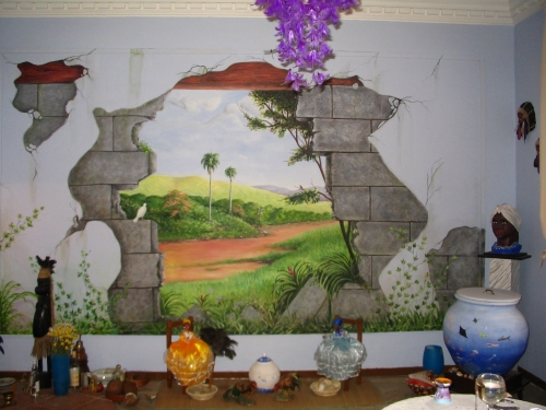 Mural de pintura para la pared - Pintura para pared lavable ...