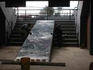 Rampas o escaleras para discapacitados