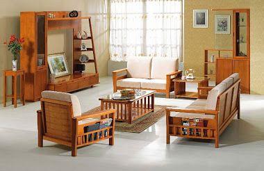 Muebles para sala de madera for Salas de madera modernas