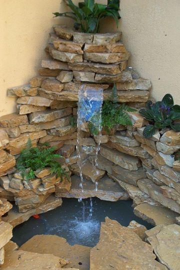 Como construir una fuente de jard n - Fuentes para jardin de piedra ...