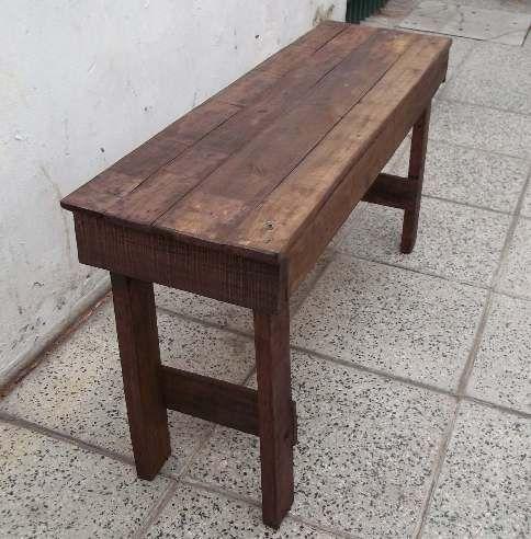 Como construir un banco de madera - Como hacer bancos de madera ...