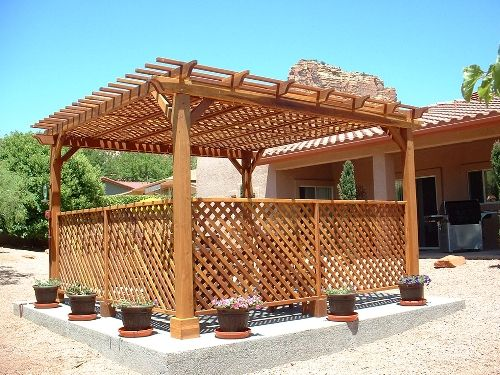 Como construir una pérgola de madera