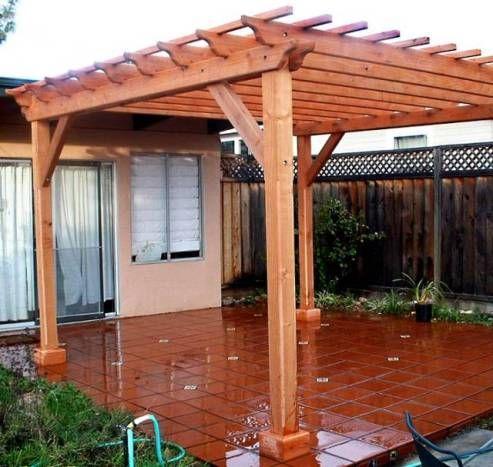 Como construir p rgolas de madera - Como fabricar una pergola ...