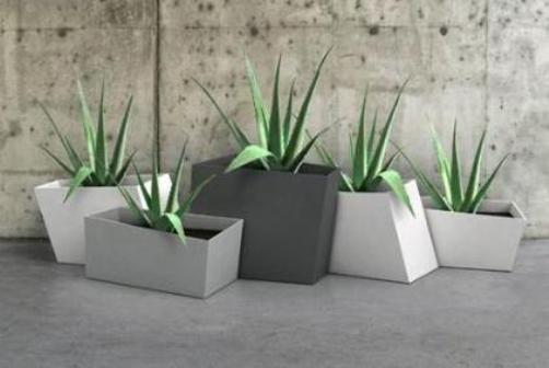 Macetas minimalistas para plantas for Plantas modernas para jardin