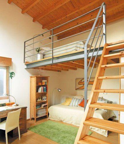 Como construir un altillo de madera - Como hacer una cama de hotel ...