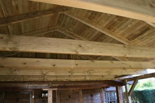 Como construir un tejado de madera