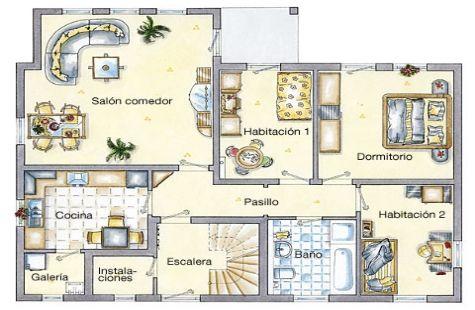 Planos de viviendas de dos plantas - Planos de casas grandes ...