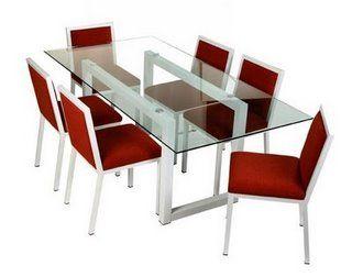 Mesas de vidrio para comedores for Comedores de madera y cristal