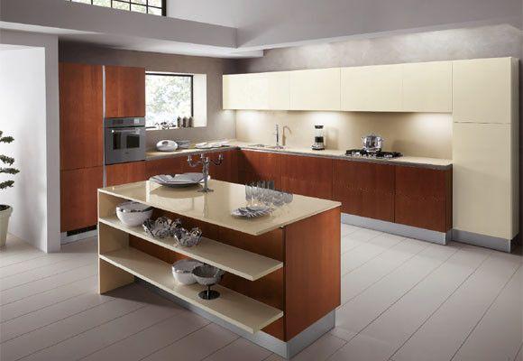 Cocina con acabados de madera - Acabados de cocinas ...