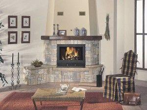 Como decorar una chimenea moderna Material valioso
