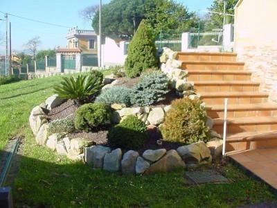 Decorar jardines con piedras