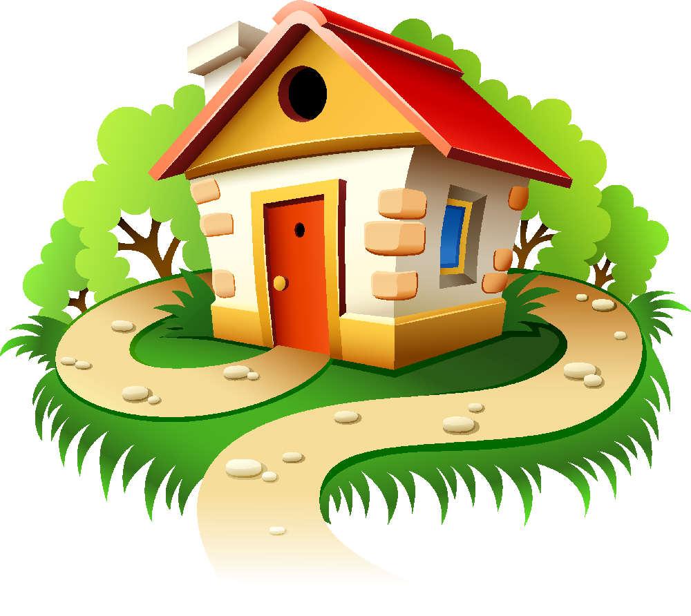 Нарисованный сказочный домик картинки для детей