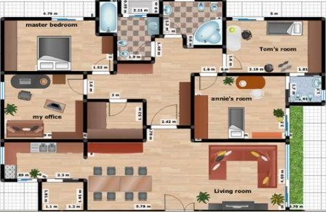 Dibujar planos de casas for Planos para construccion de casas