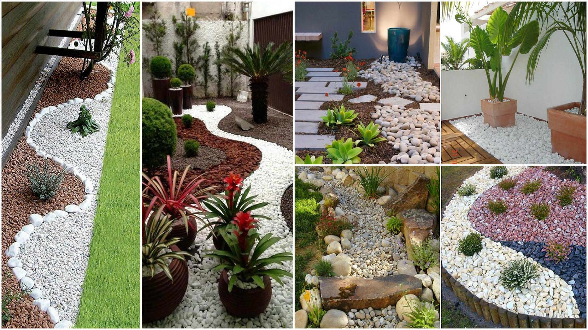 Decorar un jardín con piedras