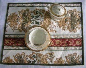 2-Manteles individuales y tejidos para la mesa