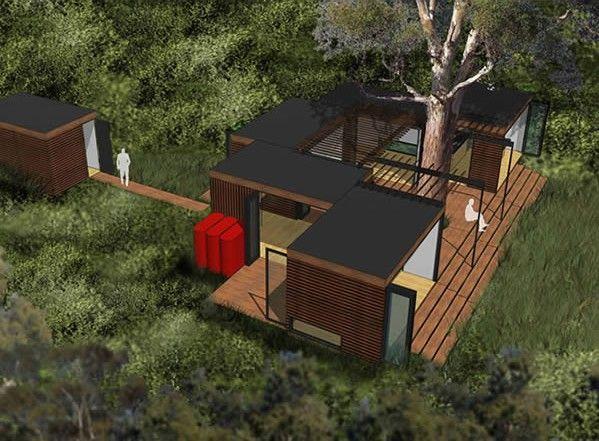Casas baratas construidas con piezas prefabricadas