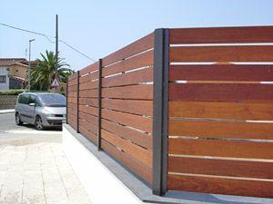 Construccion de cercas de madera - Verjas de madera para jardin ...
