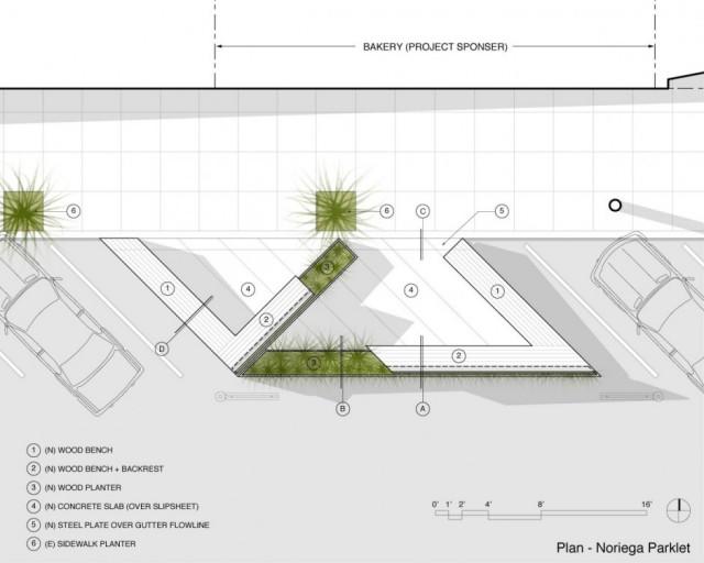 Diseño de espacios públicos plano