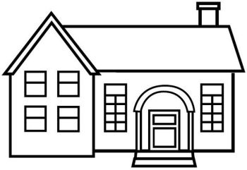 Imagen para colorear for Como dibujar un plano de una casa