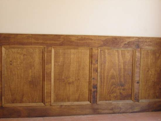 Instalacion de paneles de madera - Moldura madera pared ...