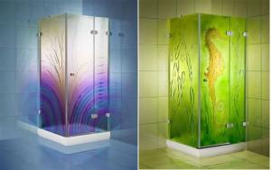 Mampara decorativa para tu baño