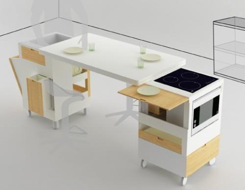 Muebles multiuso para cocinas pequeñas