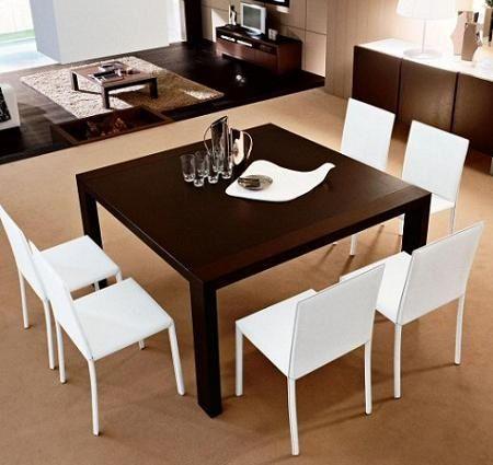 Normas del mobiliario for Decorar una mesa de comedor de cristal