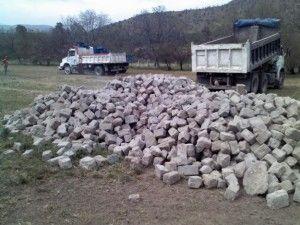 Piedras recicladas