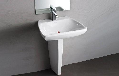Instalacion de lavabos de pedestal for Mueble para lavabo con pedestal