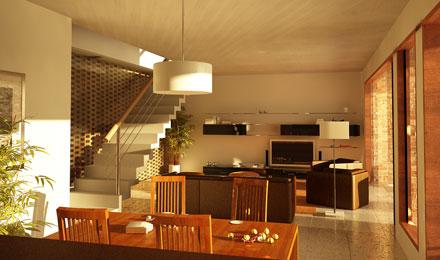 Dise o interior de una casa Disenos de colores para interiores