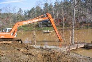 Excavadora de largo alcance