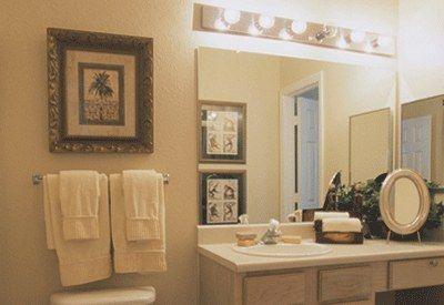 Iluminacion de las paredes del ba o - Lamparas para espejos de bano ...