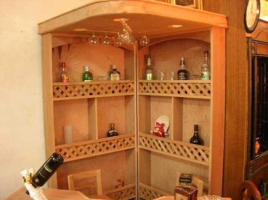 Muebles esquineros - Mueble bar rustico ...