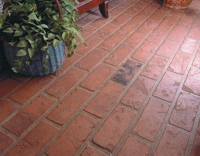 Pisos de ladrillo - Baldosas de hormigon para jardin ...