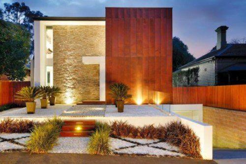 Casas contempor neas Iluminacion exterior casas modernas