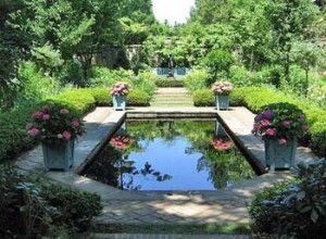 espejos de agua en jardines