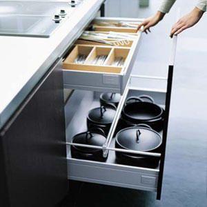 Almacenamiento en la cocina for Accesorios muebles de cocina