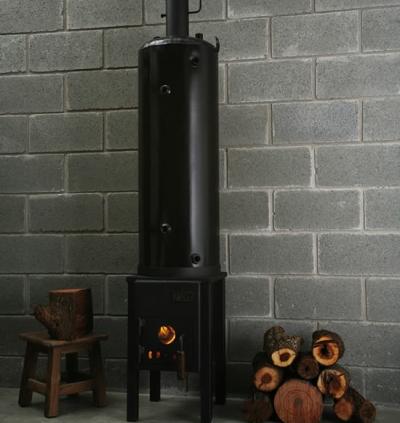 calentador de agua de le a On calentador de lena para agua