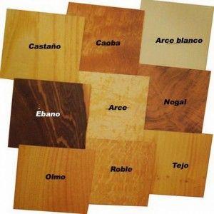 Formas de la madera
