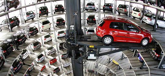 Sistema de estacionamiento subterraneo automatizado - Volkswagen parking garage ...